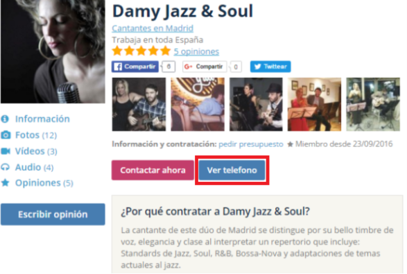damy and jazz soul . música para bodas