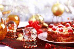 Catering en la cena de Navidad