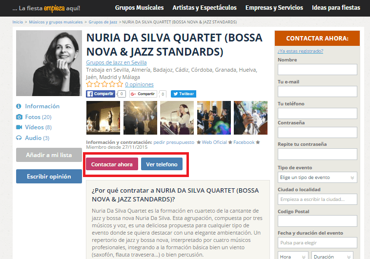 contratar grupos de jazz