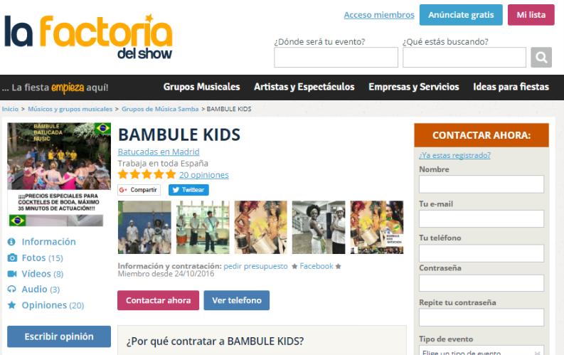 contratar grupos de música brasileña