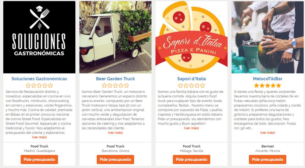 contratar food trucks para eventos