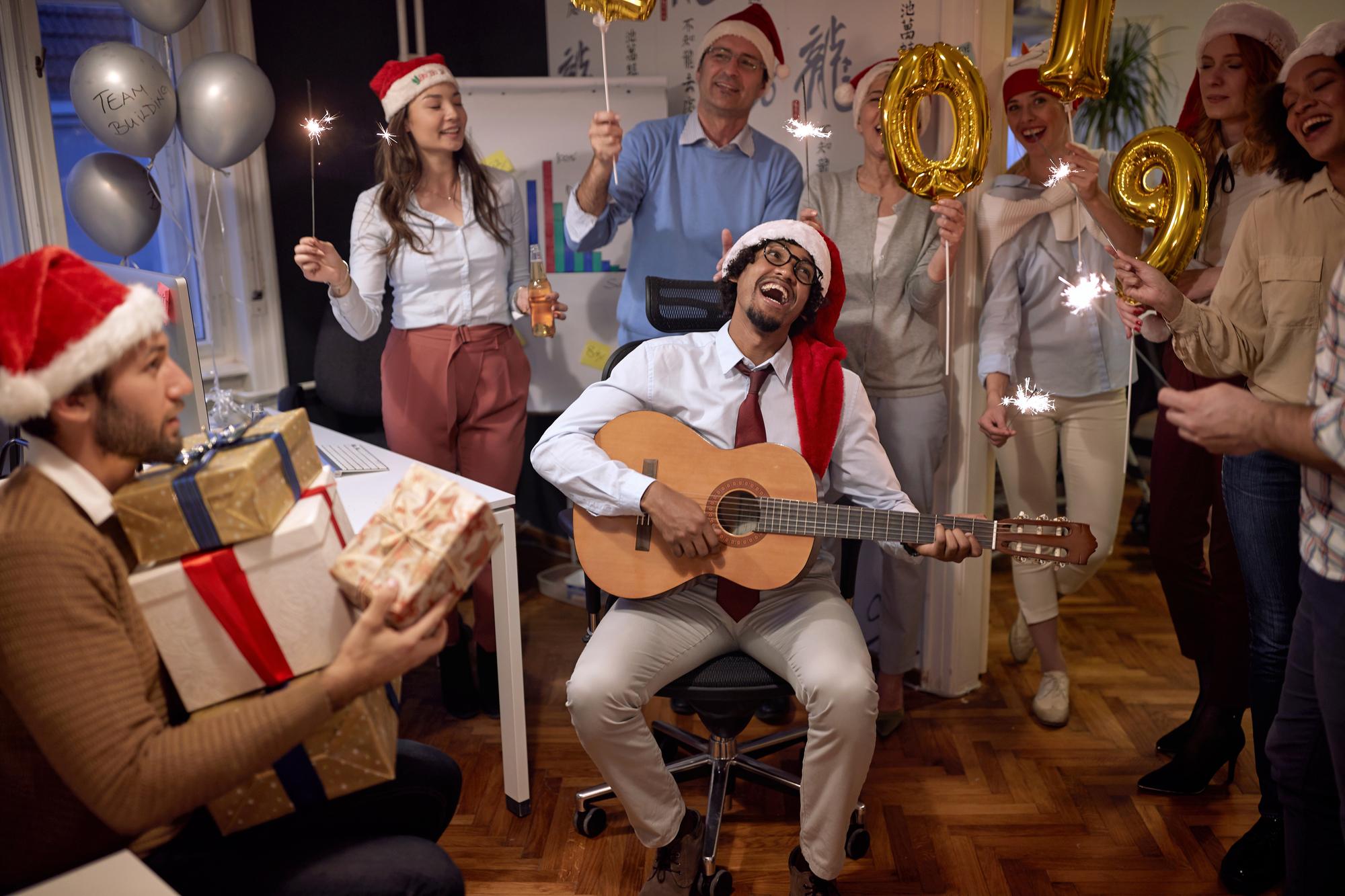 fiesta de empresa de Navidad