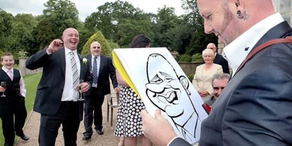 ideas originales para bodas - caricaturistas