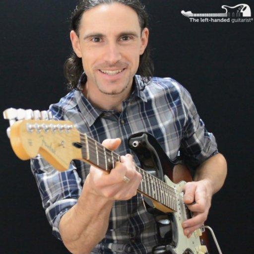 The left-handed guitarist
