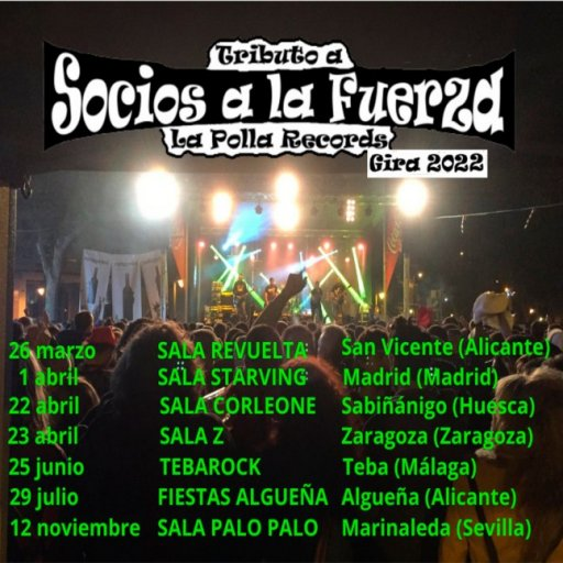 SOCIOS A LA FUERZA - TRIBUTO A LA POLLA RECORDS
