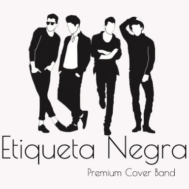 etiqueta negra premium cover band
