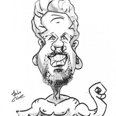 julio caricaturas