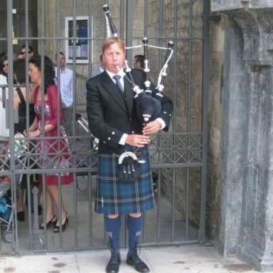 gaitero escoces de escocia